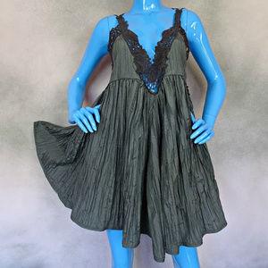 Free People Breathless Crochet Trim Dress